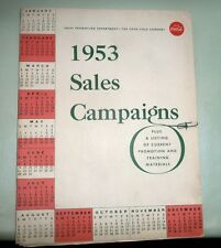 COCA COLA 1953 SELLING CAMPAIGNS + PROMOTION BULLETIN WESTINGHOUSE COOLERS