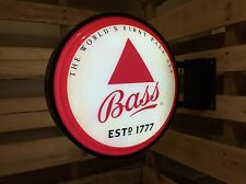 """Bass Pale Ale Pub Sign, 18.5"""" Beer Bar Light, Double sided, Anheuser Bush"""