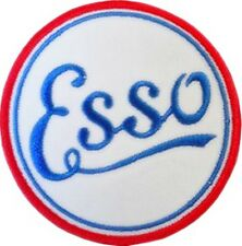 Esso Vintage round iron on/sew on cloth patch (ff)