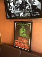RARE FRAMED FOLDED SEX PISTOLS ANARCHY TOUR KINGS HALL DERBY POSTER