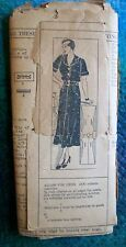 Mail Order Vintage 20s 30s Sewing Pattern Narrow Straight Dress