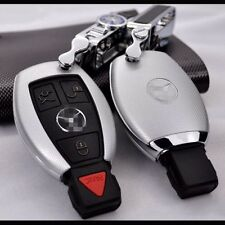 New Silver Matte Car Remote key Case Shell Protect Housing Cover For Benz