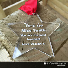 Unique Teacher Gift - Personalised thank you, End of Term, Leaving Present S2