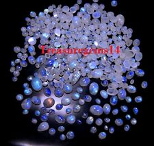 150CT WHOLESALE LOT NATURAL BLUE FIRE MOONSTONE CALIBRATED MIX CABOCHON GEMSTONE