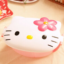 New Hello Kitty Kids Students Lunch Box Bento Box Fruits Food Storage Container