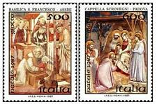 # ITALIA ITALY - 1987 - Natale Christmas - Painting Giotto - Set 2 Stamps MNH