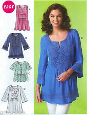BRAND NEW Easy Miss Plus Size 16-26 Tops Sewing Pattern McCall's 7128