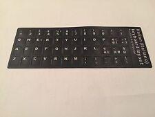 Tastaturaufkleber Tastatur Aufkleber für Laptop Notebook Italienisch schwarz neu