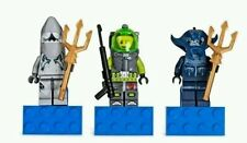 Lego Atlantis Magnets Shark Warrior, Lance Spears, Manta Warrior 852777