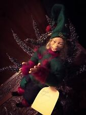 OOAK Pixie Handmade Doll Sculpture Art Faery Faerie Pagan From Arctic Norway