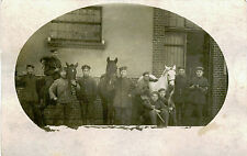 WWI ERA GERMANY, GROUP OF SOLDIERS WITH RIFLES AND HORSES &  REAL PHOTO POSTCARD