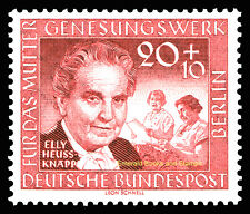 EBS West Berlin 1957 Mothers' Convalescence Elly Heuss-Knapp Michel 178 MNH**
