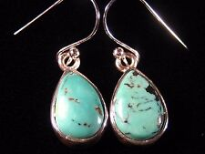 PRICE CUT / FREE SHIPPING ADDED - Genuine Turquoise in 925 Silver Settings