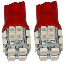 2x ampoule T10 W5W 12V 20LED SMD rouge veilleuses éclairage intérieur coffre