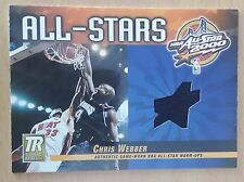 2000-01 Topps Reserve Game Jerseys #TAS21 Chris WEBBER