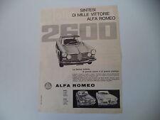 advertising Pubblicità 1962 ALFA ROMEO 2600 BERLINA