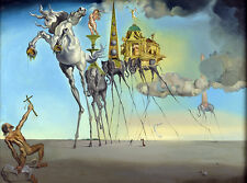 "Salvador Dali ""Temptation of St. Anthony"", 1946, GICLEE 16.5X11.7 print on canva"