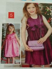 "20"" Purple Pink reversible Girls dress with bows age 2-3 year old"
