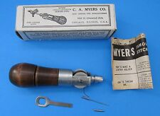 C A Myers Co Famous Lock Stitch Sewing AWL Vintage Leather Tool