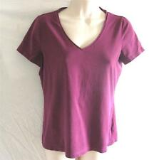 Regular Size Small  Reitmans Knit Top Dark Wine Short Sleeve V-Neck Cotton Blend