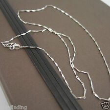 925 Solid Sterling Silver Chain 45cm Rhodium Plated Italy Made (CLEARANCE)