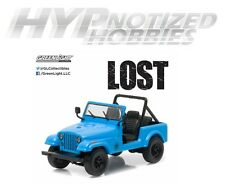 GREENLIGHT 1:43 LOST DHARMA VAN - 1977 JEEP CJ7 BLUE 86309