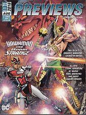 PREVIEWS  COMIC SHOP CATALOG ISSUE 335 AUG 2016 + MARVEL SUPPLEMENT HAWKMAN