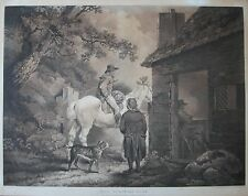After George Morland. The Turnpike gate Mezzotint engraved William Ward 1806 V&A