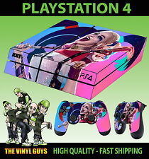 PS4 Skin Suicide Squad 02 Harley Quinn Pink Happy Sticker + Pad decal Vinyl LAID