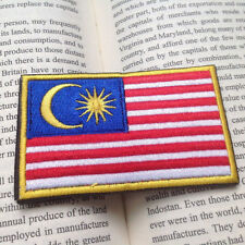 EMBROIDERED FLAG OF MALAYSIAN PATCH CURRENT MILITARY MORALE BADGE PATCH