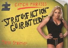 "TRISH STRATUS 2002 Fleer WWE CATCH PHRASES Insert Card #7CP ""STRATUSFACTION"""