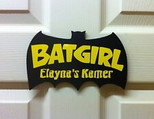 Children's Personalised Dutch Batman BatGirl Kamer door sign birthday Valentine