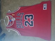 Michael Jordan 50th Anniversary Gold Logo Champion Jersey Sz48 Chicago Bulls Vtg