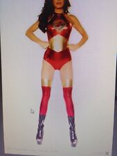 Femme sexy flash super héros foudre avengers fancy dress costume outfit