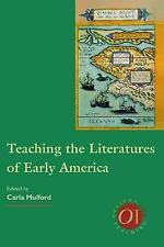 Teaching the Literatures of Early America (Options for Teaching)