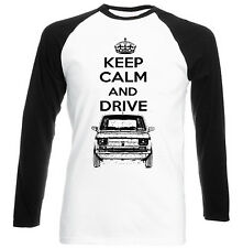 POLISH MALUCH RED FIAT 126P KEEP CALM P - NEW COTTON TSHIRT - ALL SIZES IN STOCK