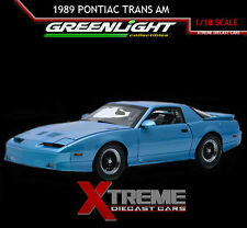 GREENLIGHT 12933 1:18 1989 PONTIAC TRANS AM GTA MEDIUM MAUI BLUE METALLIC