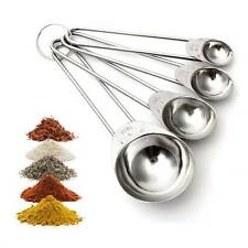 4pcs Stainless 1.25/2.5/5/15ml Measuring Spoon Cooking Tea Coffee Scoop Cup Sets