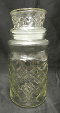 1984 Advertising Planters Peanuts Nuts X Glass Canister Container Jar Vintage