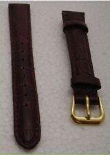 Cinturino orologio donna vera pelle marrone 14 mm Nuovo