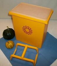 Tupperware 58 cup huge Carry All Canister Tote ~MAIZE GOLD Handle ~Sheer Seal