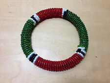 New - African Bracelet Pulsera Africana - Red and Green color Verde y Rojo Nuevo