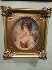Vintage Ornate Gold Gilt Plaster Carved Heavy Frame