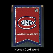 "(HCW) Montreal Canadiens 3""x4"" NHL Licensed Banner Sparkle Decal Sticker"