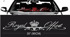 ROYAL OFFSET stance windshield windscreen front glass car JDM decal stickers
