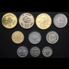 Nepal Set 10 PCS Coins, AU-UNC