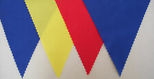 EURO 2016 ROMANIA BLUE YELLOW RED FABRIC FOOTBALL BUNTING PARTY DECORATION 2 mts