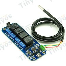 4 Channel USB/Wireless Relay Board(with Temperature DS18B20) - Andriod/iOS