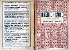 """ IPHIGENIE tragedie de RACINE "" avec introduction et notes par LIVIA SALZA"