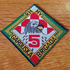 CROATIA ARMY - HV - 5th Guard Brigade FALCONS - rare sleeve patch